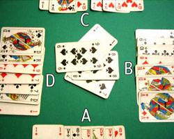 Пасьянс косынка по три карты
