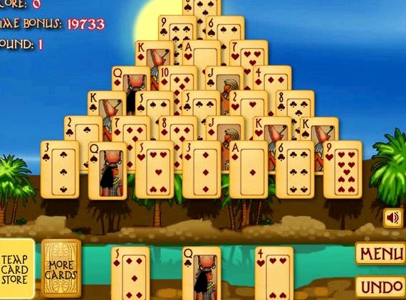 Египетская пирамида пасьянсы играть