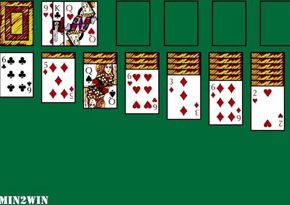 Игра косынка пасьянс 2 карты