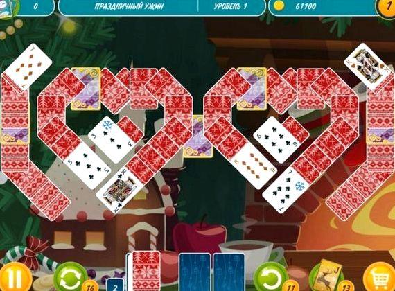 Игра новогодние карты пасьянс