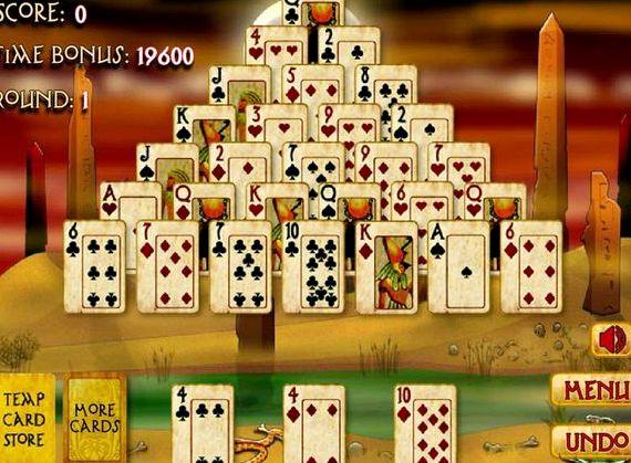 Игра пасьянс пирамида египетская