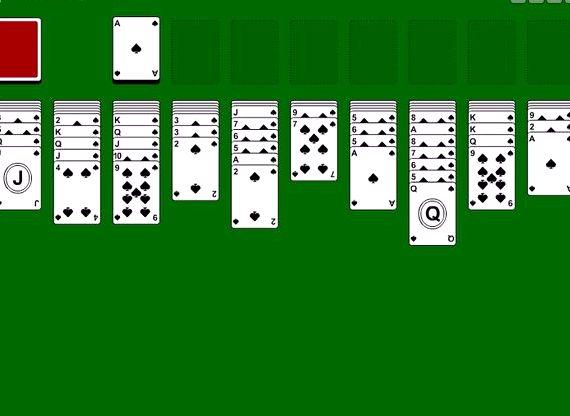 Игра паук пасьянс играть бесплатно одна масть