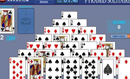 Игра пирамида двойная пасьянс играть