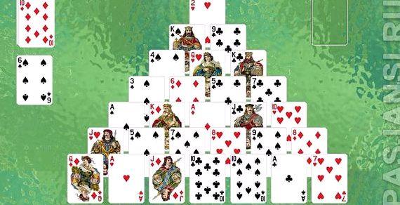 Игра пирамида пасьянс играть