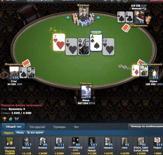 Игра покер онлайн играть бесплатно на русском