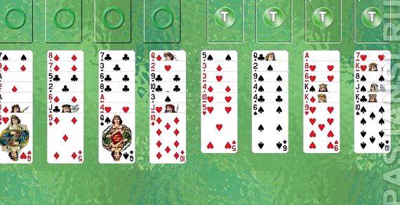 Игра в карты пасьянс солитер