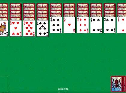 Игра в карты паук пасьянс две масти