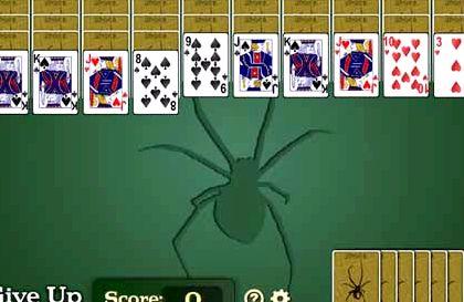 Игра в пасьянс паук 2 масти