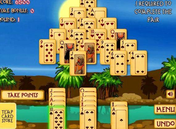 Играть в пасьянс пирамида древний египет