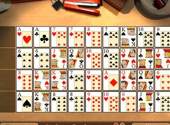 Картежная игра простой пасьянс коврик