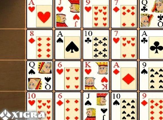 Карточные игры пасьянс коврик