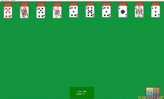 Карточные игры пасьянс паук 2 масти
