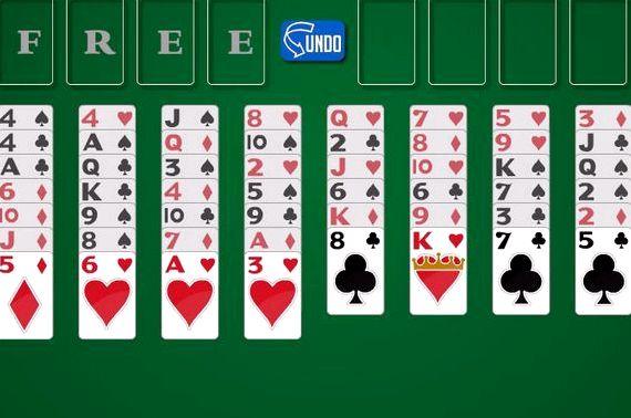Карточный пасьянс солитер играть