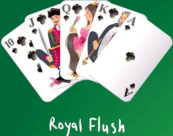 Комбинация в покере флеш рояль