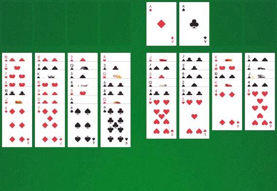 Пасьянс косынка карта бита играть