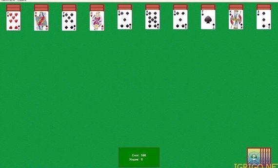 пасьянсы играть карты паук четыре масти