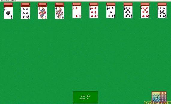 Пасьянс паук четыре масти играть онлайн бесплатно