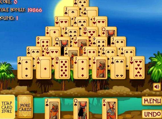 Пасьянс пирамида древнего египта играть онлайн бесплатно