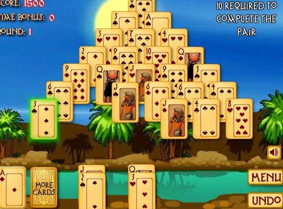 Пасьянс пирамида древний египет играть онлайн