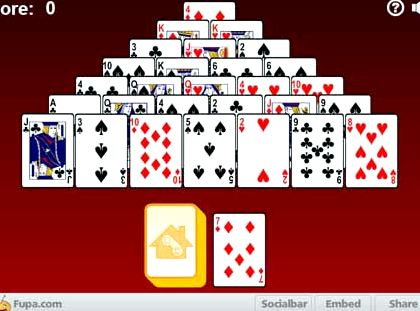 Пасьянс пирамида играть онлайн бесплатно