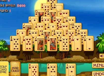 Пасьянс пирамиды играть атея