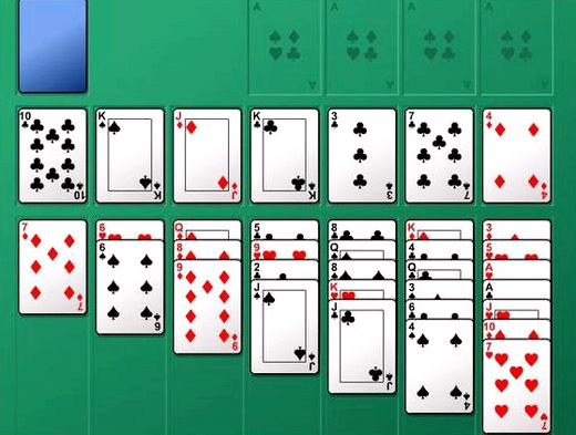 солитер играть карты гольф