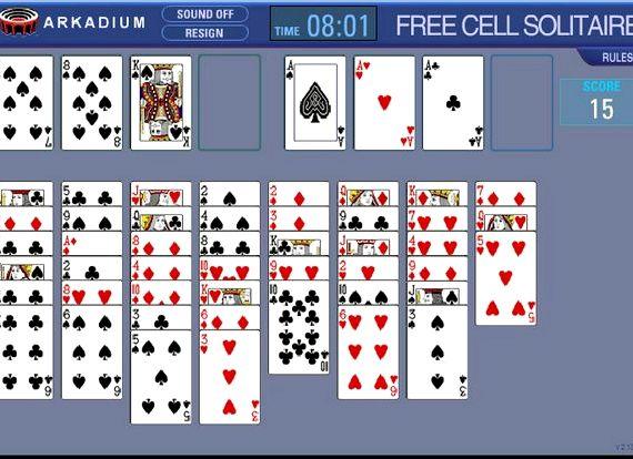 Пасьянс свободная ячейка играть онлайн бесплатно