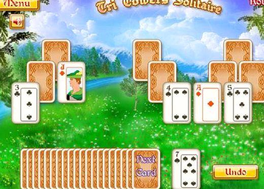 Пасьянс три башни играть бесплатно онлайн