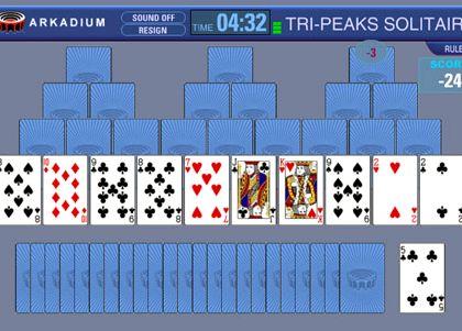 Пасьянс три пики играть онлайн бесплатно
