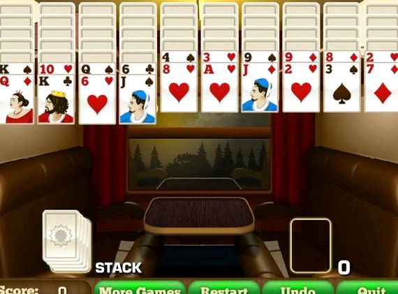 Пасьянс в поезде играть онлайн бесплатно