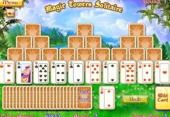 Пасьянс волшебные башни играть онлайн бесплатно