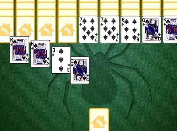 Пасьянс золотой паук играть на весь экран
