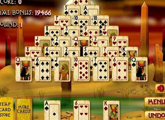 Пирамида пасьянс египет на весь экран