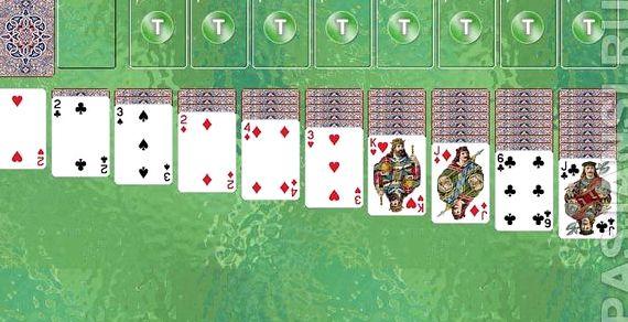 Правила игры в пасьянс косынка