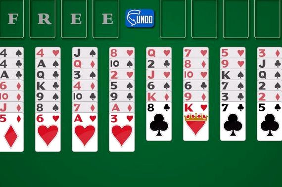 Играть в карты онлайн солитере открывается страница с казино