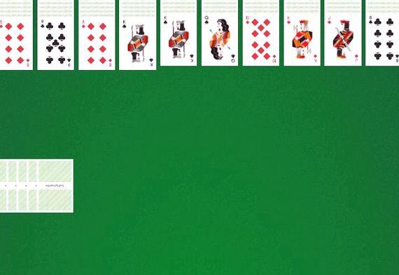 Солитер пасьянс играть бесплатно 1 масть