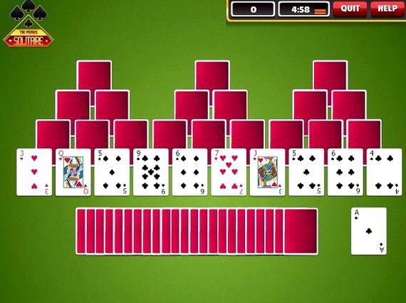 Три пика пасьянс играть онлайн бесплатно